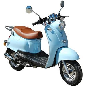 SCOOTER Scooter  rétro 50cc 4T EURO 4 Bleu Pastel + Carte