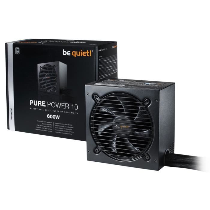 Be Quiet Alimentation PURE POWER 10 - 600W - 80PLUS SILVER