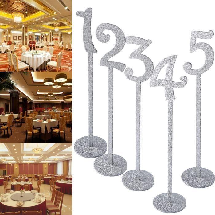 MARQUE-PLACE  Numéro de Table en bois 1-20 Set de mariage rustiq