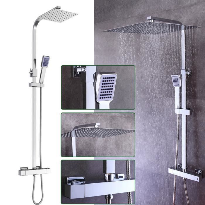 colonne de douche carre pluie