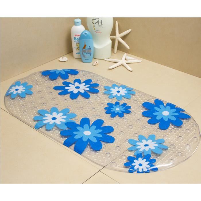 tapis de bain enfant antidrapant fleur 69x38cm pour baignoire et douche en pvc trs pais doux - Tapis Fleur