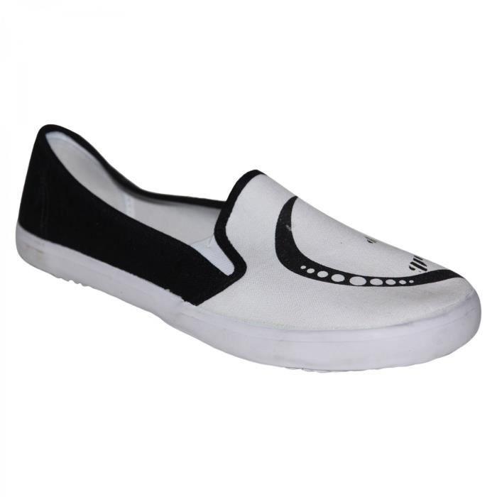 samples shoes DRAVEN EMMA SLIP ON BLACK WHITE WOMEN gUJet5Ug
