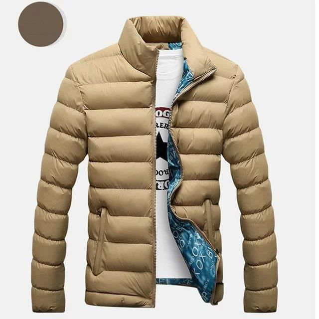 Hommes Manch Nouveau Khaki Blue Bleu Manteau Noir Mode D'hiver Coton gZq5Hq