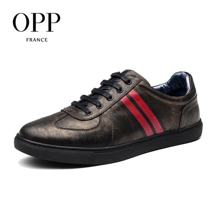 Chaussure Skateshoes OPP Mode Homme Chaussures Bleu taille 42.5 EU X211-1-Bleu khYai3