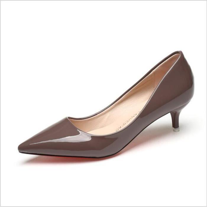 Femme mules De Marque De Luxe Meilleure Qualité Chaussures pour Femmes Talons hauts Chaussure Classique Mode G dssx008marron36