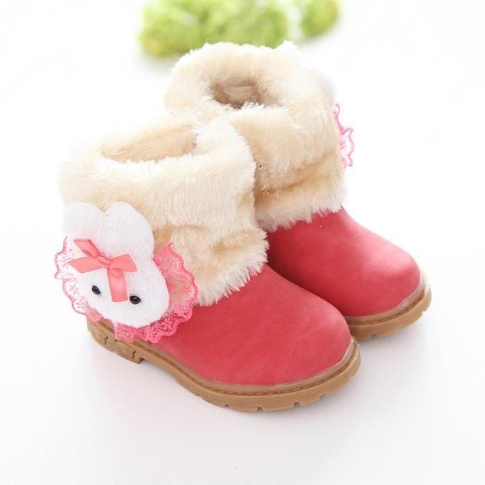 Bottes pour enfants, 2018, bottes de neige, bottes courtes, hiver, nouveau style, confort, antidérapant, fond plat