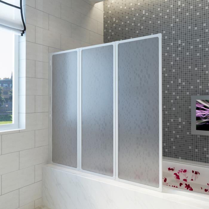 Pare Baignoire à Volets Rétractables X Cm Achat Vente - Porte pour baignoire