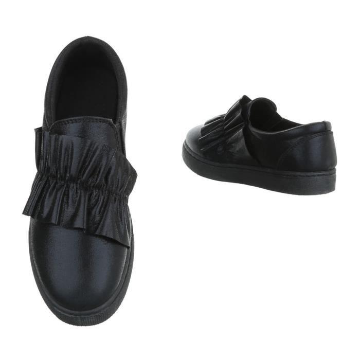 Femme chaussures flâneurs Slipper noir 40