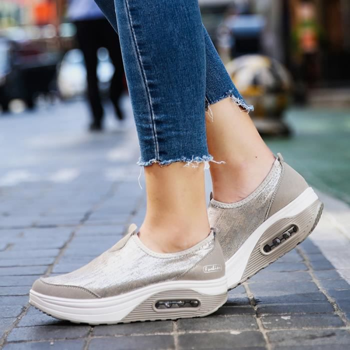 Gris noir Femme Sneakers Shake Sport Chaussures Girl Fitness Fashion 0Z0n8Tqr