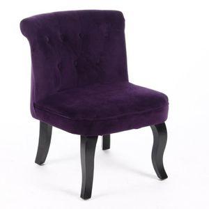 Fauteuil violet - Achat / Vente Fauteuil violet pas cher - Cdiscount