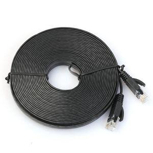 MODEM - ROUTEUR 10 m plat réseau Cat6 Patch Cable Modem Routeur Et