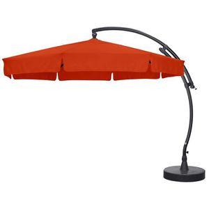PARASOL Parasol Déporté de Luxe 3m50 Terracotta