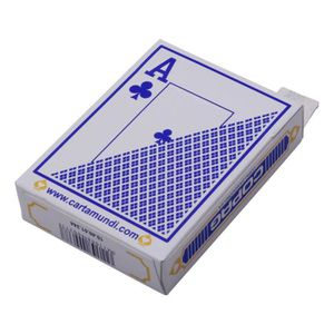 CARTES DE JEU Jeu de Cartes Poker Dépoli en Matière Plastique PV
