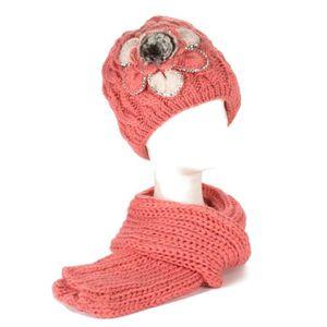 ECHARPE - FOULARD Femmes Brodé Fleur Tricoté - Floral Avec Strass Et 3eb6e180446