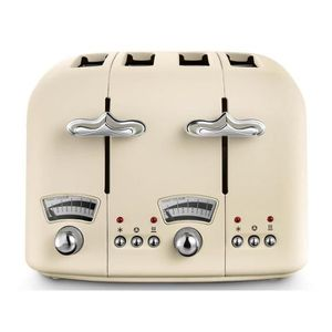 GRILLE-PAIN - TOASTER Delonghi Argento Flora Grille-pain 4 Tranches - Be