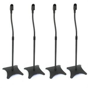 SUPPORT ENCEINTES SONO 2 paires supports de haut-parleurs noir