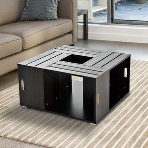 table basse caisse bois achat vente table basse caisse bois pas cher cdiscount. Black Bedroom Furniture Sets. Home Design Ideas