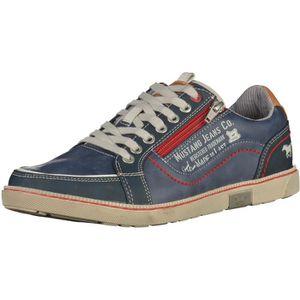Chaussure de ville MUSTANG Sneakers 4897501 Bleu  Bleu - Achat / Vente basket  - Soldes* dès le 27 juin ! Cdiscount