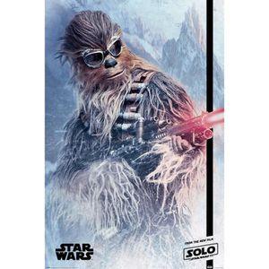 AFFICHE - POSTER Affiche Maxi Solo: A Star Wars Story Chewie Blaste