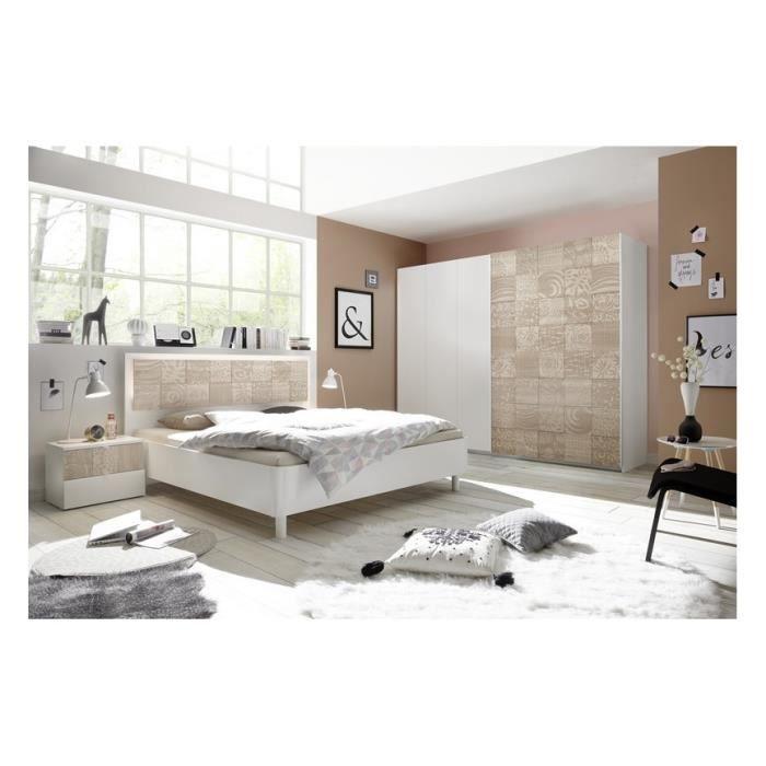 Chambre complète AVOLTE 2 - Couleur: Beige - Chambres adultes
