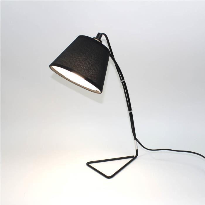 lampe de chevet noir metal et tissu design e 5 Frais Lampe De Chevet Metal Design Kgit4
