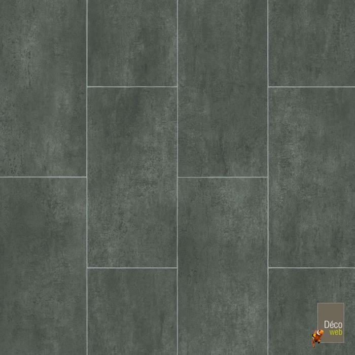 sol pvc best motif carrelage gris foncé marbré - 2m x 27ml - achat