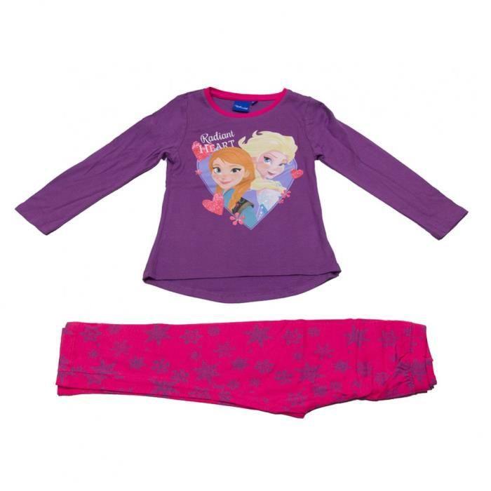 e54b899acd55c La reine des neiges - pyjama long - violet Violet - Achat   Vente ...