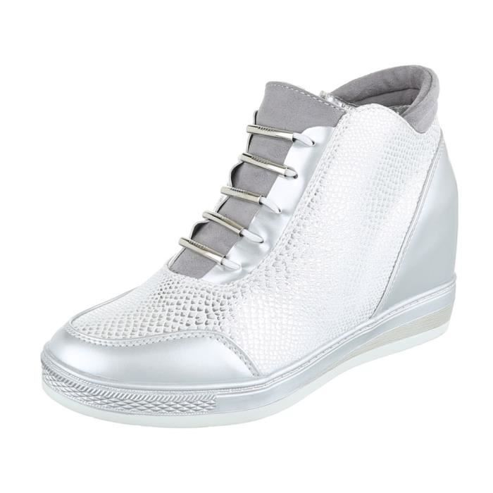 Femme chaussures bottillonWedges High-débardeur Sneaker noir 40