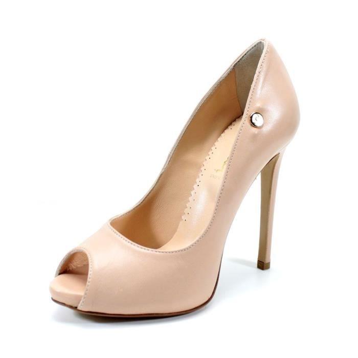 0e6ff5a1d3cfe Escarpin femme talòn haut 11 cm. decolletè Chaussure Mode Stiletto ouvert  Pierre Cardin (35, Poudre rose)