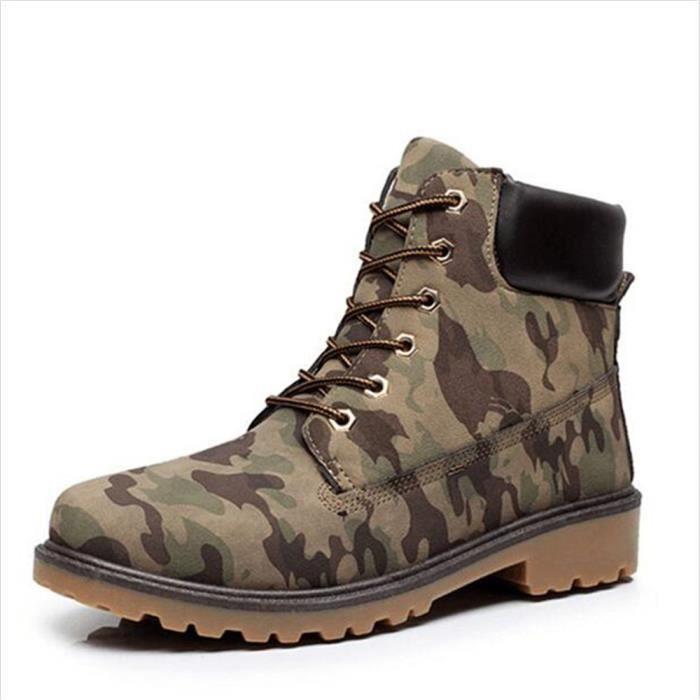 homme Bottine Nouvelle mode Hommes bottes militaires homme Bottine de securite de travail embout acier de luxe de marques hommes