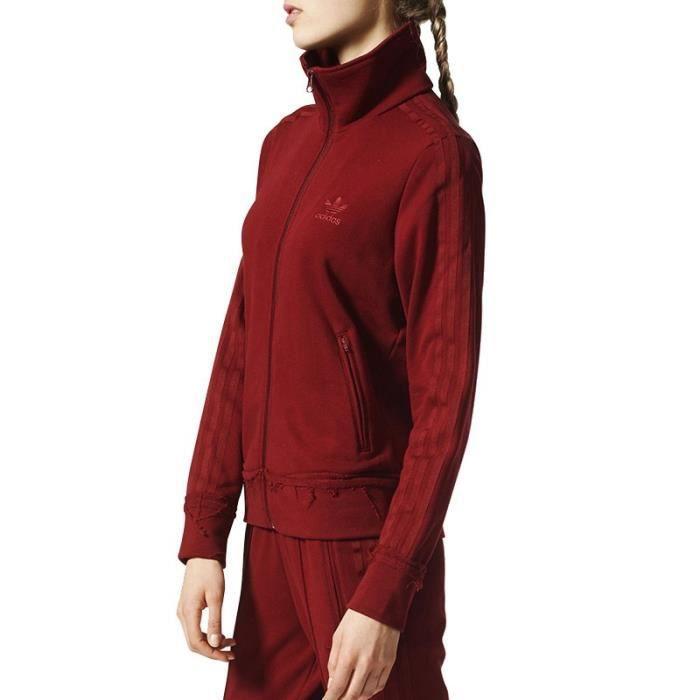 Veste Firebird Effet usé Bordeaux Femme Adidas Rouge Rouge - Achat ... 2a0250dd22e