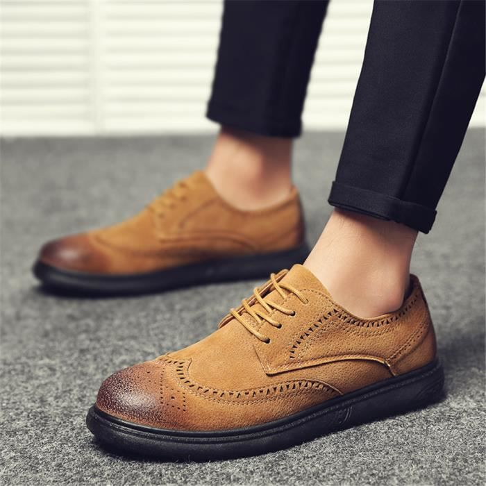 Derbies Hommes Nouvelle Arrivee Cuir Chaussures Qualité Supérieure Classique Cool Super Confortable 39-44