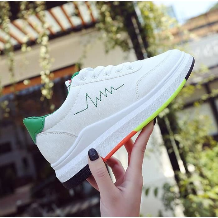 Femme Sneakers Chaussures occasionnelles Baskets Basses Chaussure Baskets à lacets taille 35-40