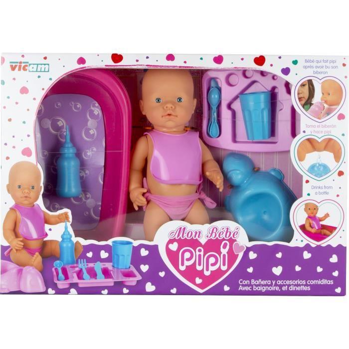 Bien connu VICAM Mon Bébé Pipi + Access - Achat / Vente poupée - Cdiscount JI06