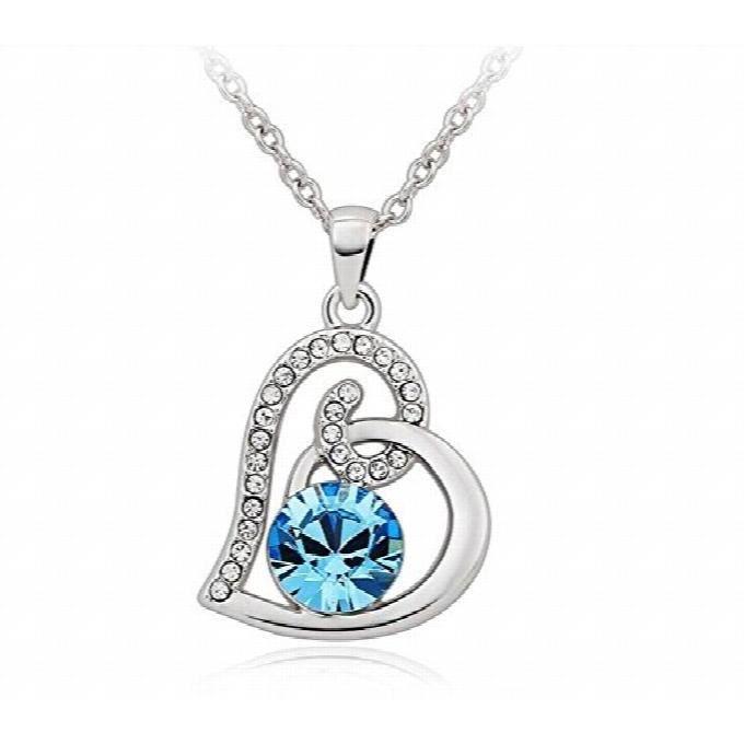 Cristal autrichien cadeau Bijoux Pendentif Coeur Collier Femme PourMRXMB