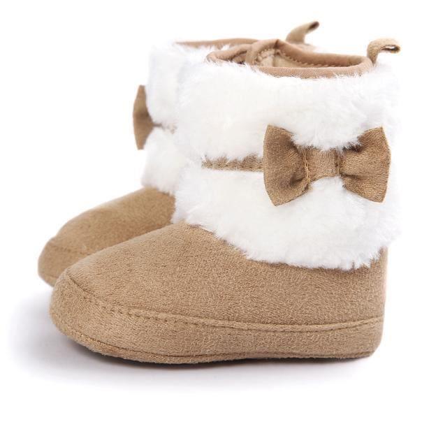 Noël Elk Baby bottes en neige douce Bottes douces pour bébé Chaussures pour bébés rose pc8RV8h