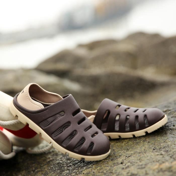 Fond en caoutchouc Chaussures Sandales d'extérieur simple d'homme