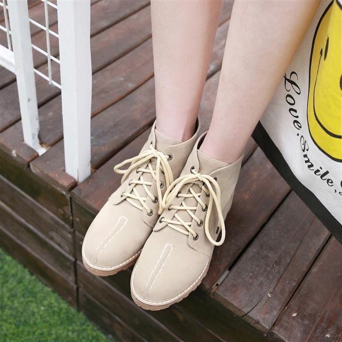 Femme Ankle Boot Court Basses Actif Outdoor Hiver Automne Chaud Vitalité Young Nouveau Individualité Haute Qualité élégante