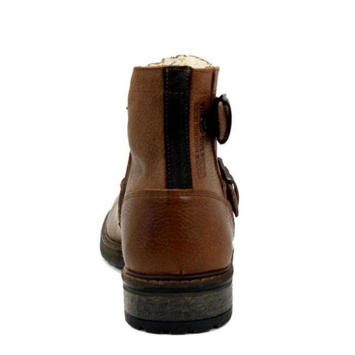 BULL BOXER Bottines- Boucles - Fermeture À Glissière - Cuir - Cuir - Taille - Quarante-et-un Homme Ref. 2441_24080