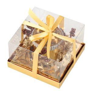 BOUGEOIR - CHANDELIER Bougeoir de Noël décoré doré avec Bougie H7 cm