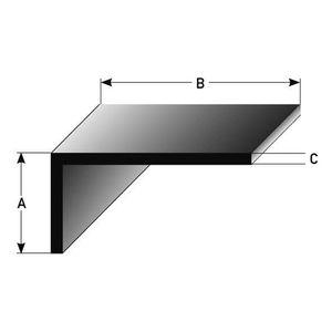 RAMPE - MAIN COURANTE 2 mètres Cornière pour escaliers, inégale, Profilé