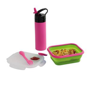 LUNCH BOX - BENTO  BE NOMAD MEN326P Set lunch box et gourde silicone