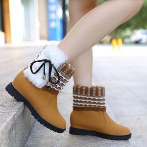 Bottes d'hiver des femmes en peluche chaussures de travail en plein air chaud cheville bottes de neige blanc XKO375 t2JsW5