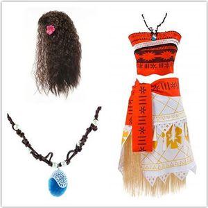 DÉGUISEMENT - PANOPLIE Déguisement Vaiana Fille Cosplay Costume Moana Ens