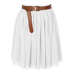 c3352ff743f JUPE Mini-jupe en mousseline de soie Fille Robe courte ...
