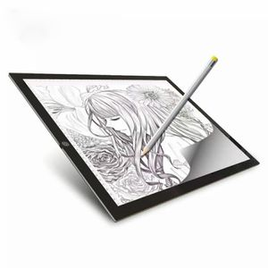 TABLETTE GRAPHIQUE Podofo Tablette Lumineuse A3 LED Luminosité Réglab