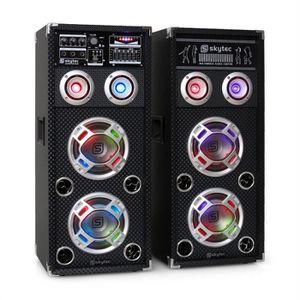ENCEINTES Skytec KA-26 Set d'enceintes karaoké actives USB