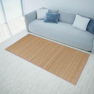 TAPIS vidaXL Tapis en bambou 160 x 230 cm Marron