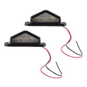 CARTE LED XCSOURCE 2pcs 4 LED 10-30V Licence Plaque Lumière
