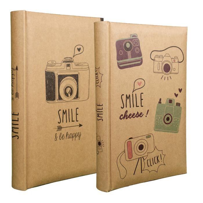 lot de 2 albums smile pochettes cpc pour 300 photos 10x15 achat vente album album photo. Black Bedroom Furniture Sets. Home Design Ideas